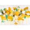 """Marmont Hill """"Flower Friends"""" by Julie Joy Painting Print on Wrapped Canvas"""