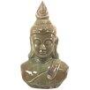 Wildon Home Distressed Ceramic Buddha Head Bust