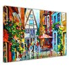 Hokku Designs Morning in Bavaria Germany by Leonid Afremov Painting Print on Wrapped Canvas