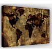 Hokku Designs Vintage World Atlas Map Graphic Art on Wrapped Canvas