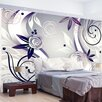 Artgeist Purple Roses 2.1m x 300cm Wallpaper