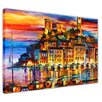 Hokku Designs Cannes France by Leonid Afremov Painting Print on Wrapped Canvas