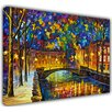 Hokku Designs City by Leonid Afremov Painting Print on Wrapped Canvas