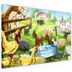Hokku Designs Farm Animals for Infants Graphic Art on Wrapped Canvas