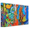 Hokku Designs Faces Painting Print on Wrapped Canvas