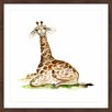 "Marmont Hill ""Baby Giraffe"" by Michelle Dujardin Framed Painting Print"