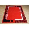 Castleton Home Finsbury Red/Black Area Rug