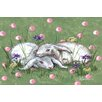 Marmont Hill 'Bunny Love' by Reesa Qualia Painting Print on Wrapped Canvas
