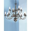 Franklite Halle 12 Light Candle Chandelier