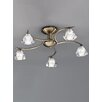 Franklite Twista 5 Light Semi-Flush Ceiling Light