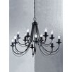 Franklite Gemini 12 Light Candle Chandelier