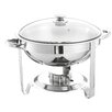 SQProfessionalLtd 5L Round Chafing Dish with Glass Lid
