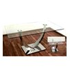 Hokku Designs Glass/Stainless Steel Dining Table