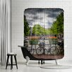 East Urban Home Amsterdam Gentlemencanal Bicycles Shower Curtain