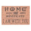 Relaxdays Home is Wherever I Am With You Doormat