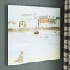Three Posts Cornish Sea Dog Art Print Wrapped on Canvas