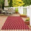 Floorita Vitaminic Red Indoor/Outdoor Area Rug