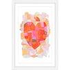 Marmont Hill 'Splash of Heart' by Yolanta Gawlik Framed Painting Print