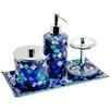 Home Essence Mosaic 4 Piece Bathroom Accessory Set