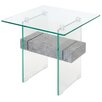 Home Essence Glass Side Table