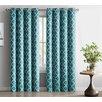 HLC.ME Lattice Geometric Blackout Thermal Grommet Curtain Panels (Set of 2)