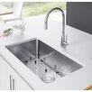 "Exclusive Heritage 30"" x 18"" Undermount Kitchen Sink with Strainer and Grid"