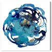 Oliver Gal 'Camellia Azul' Painting Print on Wrapped Canvas