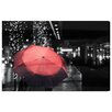 Oliver Gal 'Under The Red Umbrella' Photographic Print on Wrapped Canvas
