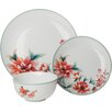 SimplyKitchen Blossom 12 Piece Dinnerware Set, Service for 4 (Set of 4)