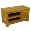 """Hazelwood Home Solid Oak TV Stand for TVs up to 36"""""""