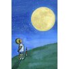 Marmont Hill 'Boy and Moon' by Phyllis Harris Painting Print on Wrapped Canvas