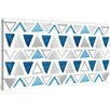 Marmont Hill Shaded Triangles Painting Print on Wrapped Canvas
