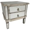 Hazelwood Home Mirrored Side Table