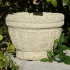 Designer Stone, Inc Floral Leaf Cast Stone Pot Planter