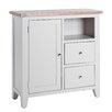 Hazelwood Home Chalky 2 Drawer 1 Door Cabinet