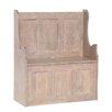 Hazelwood Home Flurbank Chalky mit Stauraum aus Holz