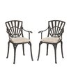 Astoria Grand Frontenac Dining Arm Chair with Cushions (Set of 2)