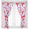 Beco Home Up And Up Graphic Print & Text Semi-Sheer Rod Pocket Single Curtain Panel