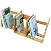 Woodquail Bamboo Expandable Adjustable Book Shelving Rack