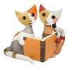 Goebel Figur Katzenpaar mit Buch Rosina Wachtmeister