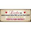 Cuadros Lifestyle Liebe ist Plaque