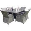 Hokku Designs Vanessa 6 Seater Dining Set with Cushions