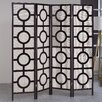 "Asia Direct Home Products 72"" x 72"" Jute Screen with Circle 4 Panel Room Divider"