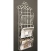 Castleton Home Metal Scroll Design Wall Hanging Magazine Rack with 3 Sections