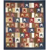 Patch Magic Hand Quilted Cotton Patchwork Homespun Stars King Quilt