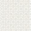 Hazelwood Home Ami Gigi Light 10.05m x 52cm Geometric Roll Wallpaper