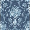 Hazelwood Home Mirabelle Winsome 10.05m x 52cm Damask Roll Wallpaper