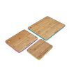 Farberware 3 Piece Bamboo Cutting Board with Painted Edge Set