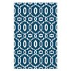 Green Decore Dark Blue/White Indoor/Outdoor Area Rug