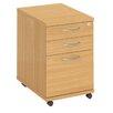 WoodstockLeaBank Fraction 3-Drawer Mobile Vertical Filing Cabinet